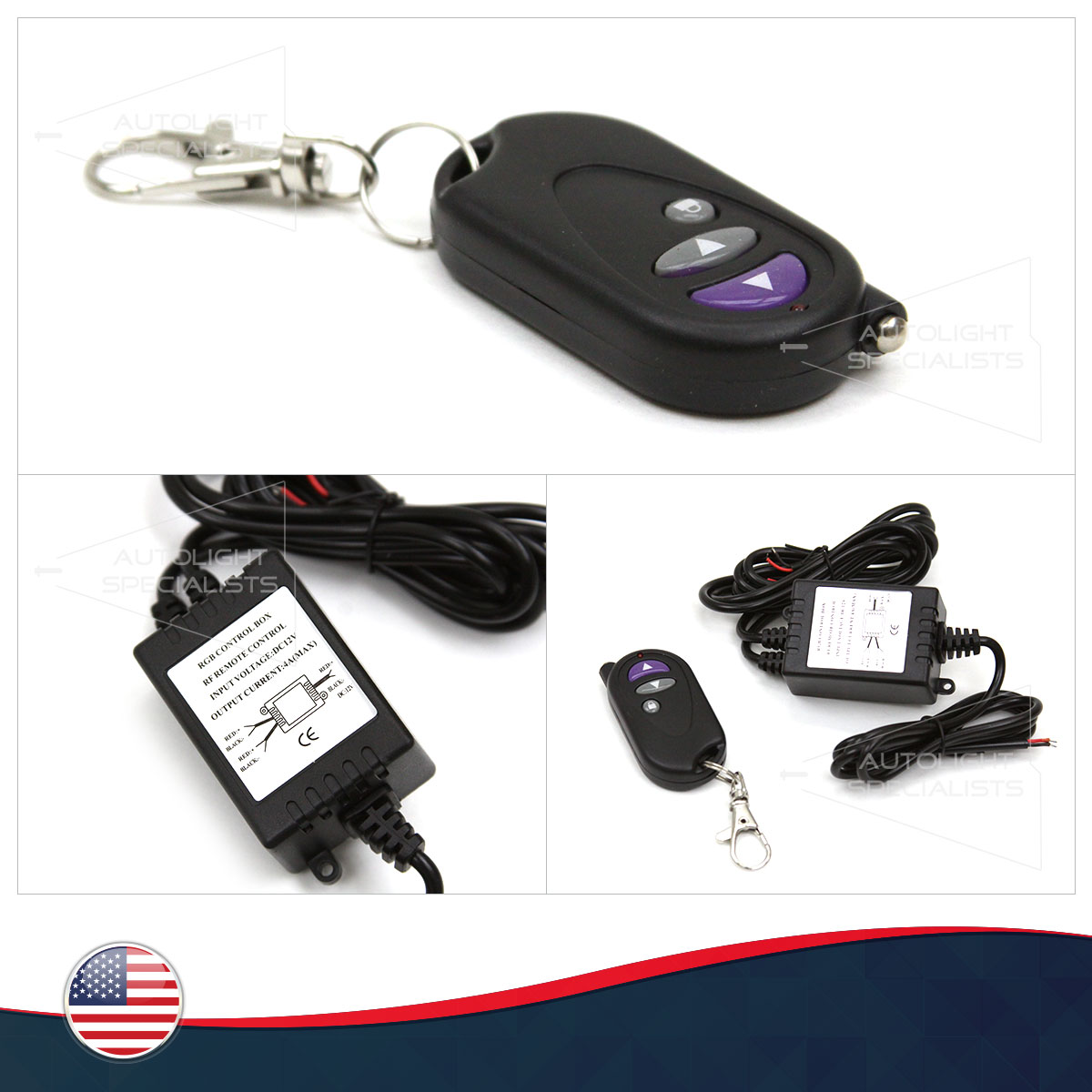 FOR CHEVY CARS 2-OUTPUTS LED/HALO LIGHTS REMOTE CONTROL SWTICH ON ...